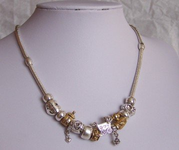 NEW BABY SHOWER GOLD AND SILVER PLATED NECKLACE
