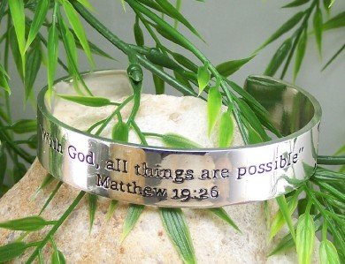 NEW RELIGIOUS CHRISTIAN ANYTHING IS POSSIBLE BRACELET