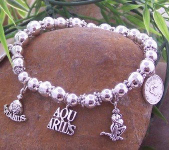 NEW ZODIAC AQUARIUS WATER BEARER HOROSCOPE BRACELET