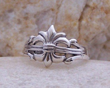 NEW 925 STERLING SILVER FRENCH FLEUR DE LIS TOE RING