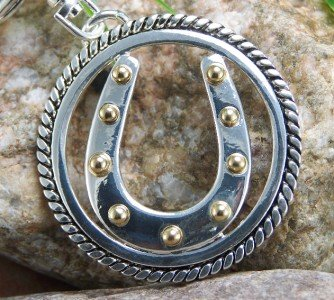NEW WESTERN HORSESHOE HORSE PURSE KEY CHAIN KEYCHAIN