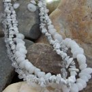 NEW WHITE WESTERN NATURAL STONE NUGGET NECKLACE SET