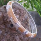 NEW BROWN BEIGE TAN TAUPE CRYSTAL BANGLE BRACELET