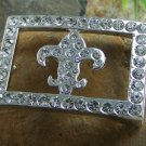 NEW MEN WOMEN UNISEX  FLEUR DE LIS BELT BUCKLE