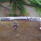 NEW PINK RIBBON BREAST CANCER AWARNESS HEART BRACELET