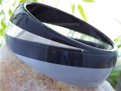 NEW BLACK GRAY GREY SWIRL TRENDY BANGLE BRACELET