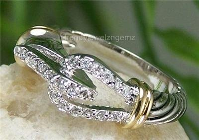 NEW 14K GP WESTERN BELT BUCKLE CABLE CZ RING SIZE 9