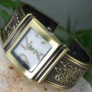 NEW GOLD TONE ANTIQUE STYLE BRACELET BANGLE WATCH