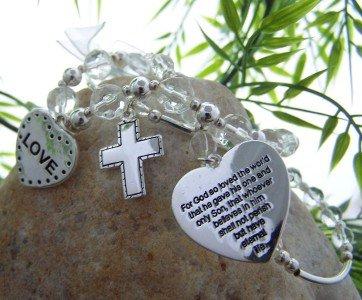 NEW RELIGIOUS CHRISTIAN JOHN 3:16 GOD ONLY SON BRACELET