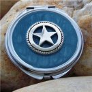 NEW BLUE WESTERN COWGIRL HORSE LONESTAR COMPACT MIRROR
