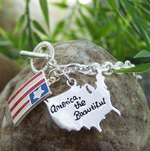 NEW AMERICA THE BEAUTIFUL USA UNITED STATES BRACELET