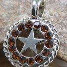 NEW BROWN WESTERN LONESTAR STAR NECKLACE PENDANT