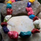 NEW MULTICOLOR WESTERN TURQUOISE CHALK NUGGET NECKLACE