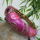 NEW  PINK  HINGE BANGLE BRACELET