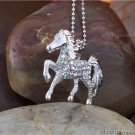 WESTERN COWGIRL HORSE MUSTANG STALLION PONY NECKLACE