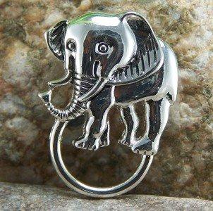 NEW ELEPHANT ID EYE GLASS EYEGLASS BADGE HOLDER BROOCH
