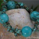 NEW WESTERN TURQUOISE MULTI NATURAL NUGGET BRACELET