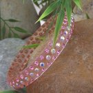 NEW CHIC PINK SWAROVSKI CRYSTAL BANGLE BRACELET