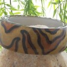 NEW BROWN BLACK LEOPARD CHEETAH ANIMAL PRINT BANGLE