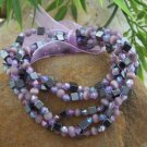 NEW MULTI COLOR PURPLE SEED BEAD BANGLE BRACELET SET