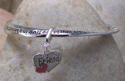 BEST FRIEND FRIENDS FRIENDSHIP HEART LOVE BRACELET