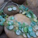 NEW GREEN MOTHER OF PEARL SHELL MIXED BEAD NECKLACE SET