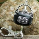 NEW BLACK PURSE KEYCHAIN KEY CHAIN HANDBAG FINDER