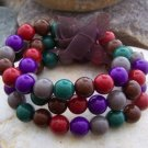 NEW MULTI COLOR 3 THREE PIECE BEAD BANGLE BRACELET