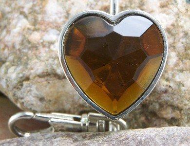 NEW BROWN HEART PURSE HANDBAG KEY CHAIN KEYCHAIN FINDER