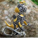 NEW PUPPY DOG ANIMAL LOVER PURSE KEYCHAIN FINDER