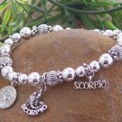 NEW ZODIAC SCORPIO ASTROLOGY HOROSCOPE BRACELET