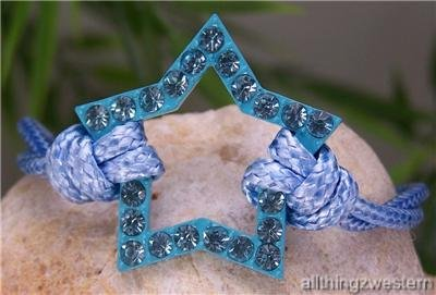 NEW BABY BLUE WESTERN COWGIRL RODEO STAR KNOT BRACELET