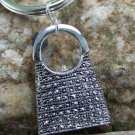 NEW LADIES PURSE HANDBAG CHARM MARCASITE STYLE KEYCHAIN