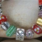NEW EUROPEAN  STYLE HEART LOVE LAMPWORK BRACELET