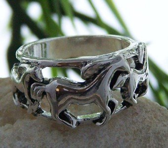 NEW WESTERN COWGIRL HORSE PONY MUSTANG RING SIZE 10