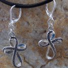 NEW RELIGIOUS CHRISTIAN CROSS TWISTED CELTIC EARRINGS