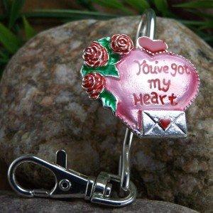 NEW YOU'VE GOT MY HEART VALENTINES DAY KEYCHAIN FINDER