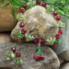 NEW CHERRY CHERRIES STRAWBERRY FRUIT EARRINGS BRACELET