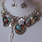 MULTICOLOR MOSAIC WESTERN TURQUOISE NECKLACE SET