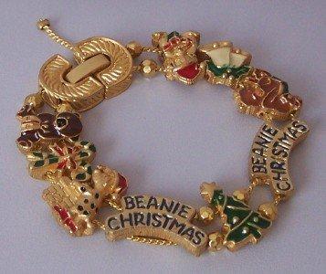 MERRY CHRISTMAS BEANIE BEAR STOCKING CANDY BRACELET