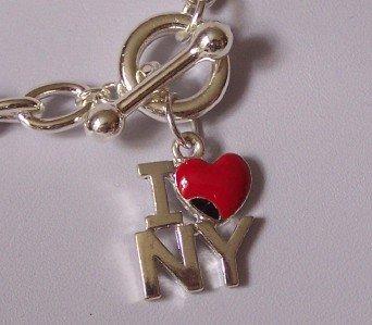 I LOVE NY NEW YORK CITY HEART LOVE BIG APPLE BRACELET