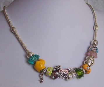 NEW MOM MOTHER BABY SHOE SHOWER GLASS LAMPWORK NECKLACE