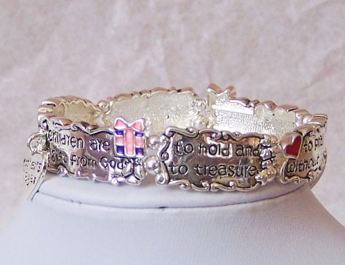 MOTHERS PRAYER CHILD MOM TO BE NEW BABY SHOWER BRACELET