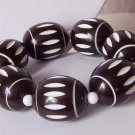 Chunky Brown White Tribal Ethnic Bracelet