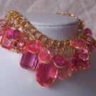Hot Pink Layered Cha Cha Charm Bracelet