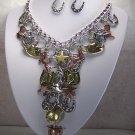 Western Cowgirl Layered Horse Pony Horseshoe Charm Necklace Set