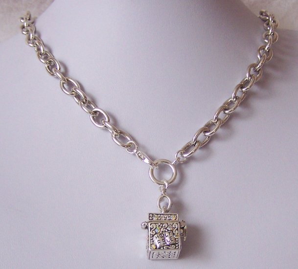 Religious Christian Holy Bible Crystal Prayer Box Necklace