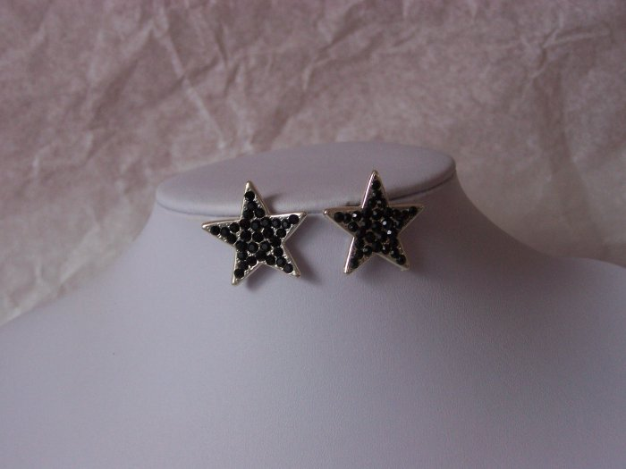 Black Western Star Rodeo Earrings
