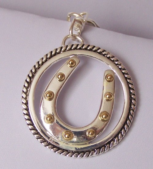 Western Horseshoe Horse Shoe Two Tone Handbag Keychain
