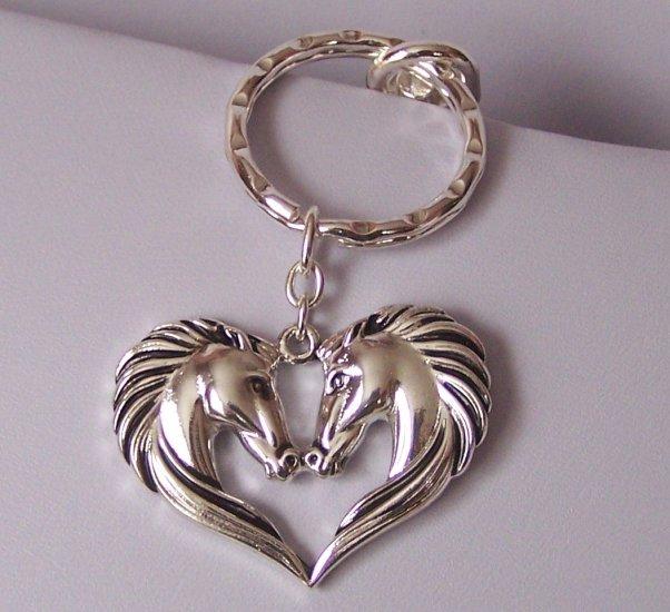 Western Horse in Heart Love Mustang Pony Handbag Keychain Finder